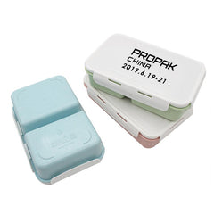 Dual Compartment Snap Lock Lunch Box