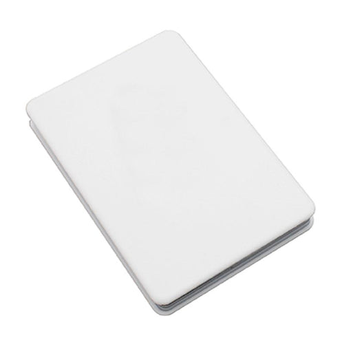 Rectangular Flip Pocket Mirror with White ABS Cover