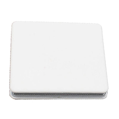 Square Flip Pocket Mirror with White ABS cover