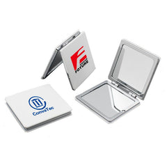 Square Flip Pocket Mirror with White ABS cover CG Pocket Mirror One Dollar Only