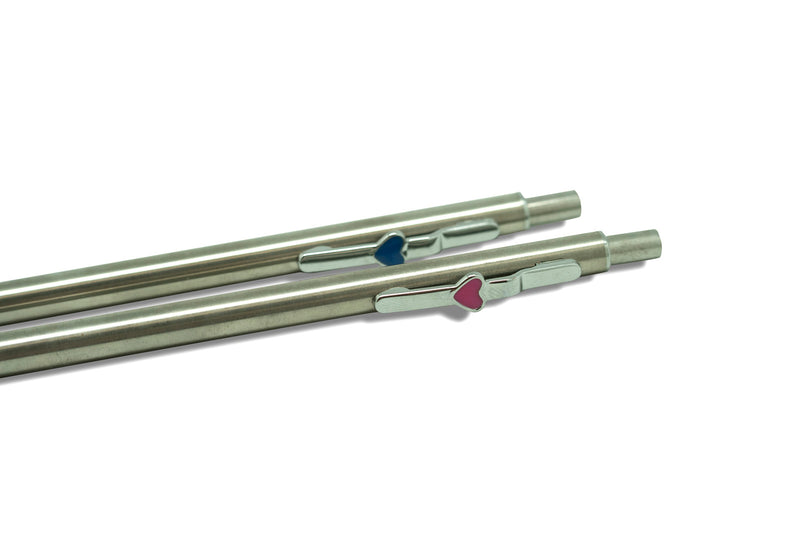 Stainless Steel Heart-shaped Clip Mechanical Pencil Pencils One Dollar Only