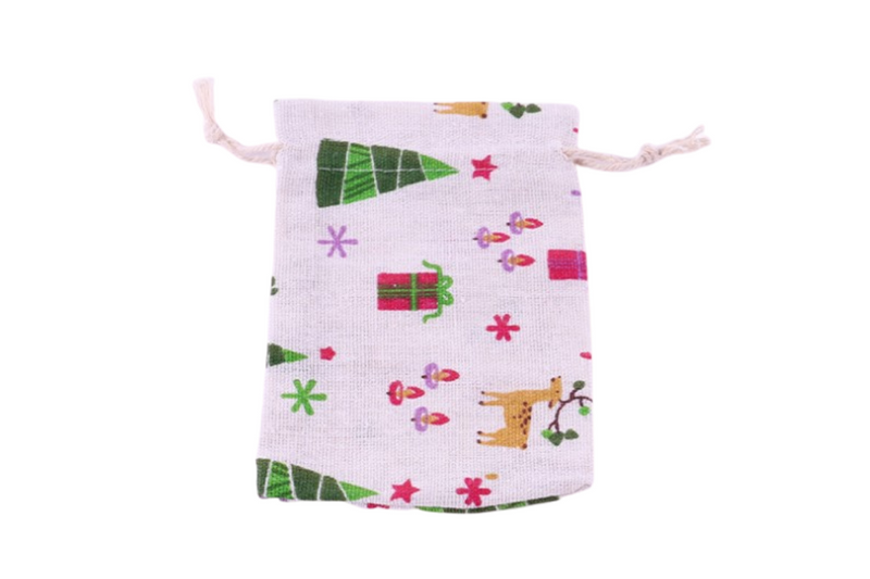 Christmas Drawstring Gift Bag Seasonal One Dollar Only