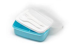 Plastic Lunch Box With Cutlery