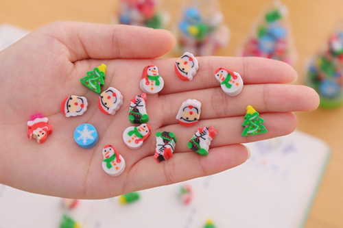 Christmas Tree Eraser Seasonal One Dollar Only