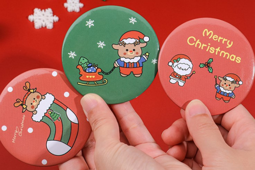 Christmas Theme Hand Mirror