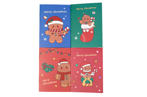 Christmas Gingerbread Man Design Notebook Seasonal One Dollar Only