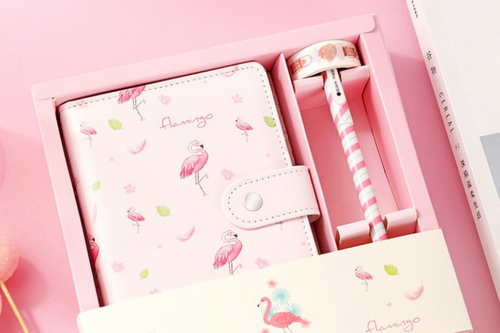 Flamingo Theme Gift Box Stationery Set One Dollar Only