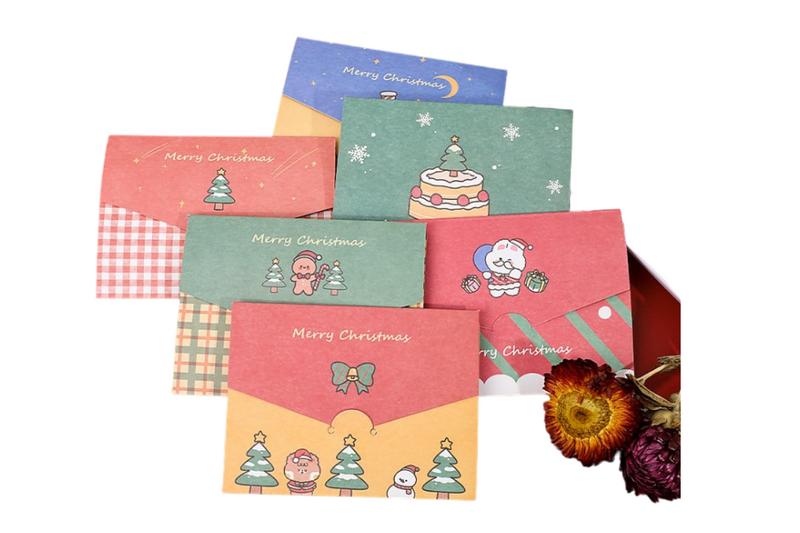 Christmas Envelope Cards Seasonal One Dollar Only
