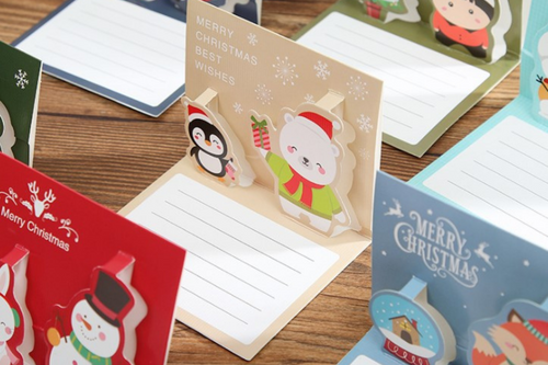 Christmas Pop Up Card Seasonal One Dollar Only