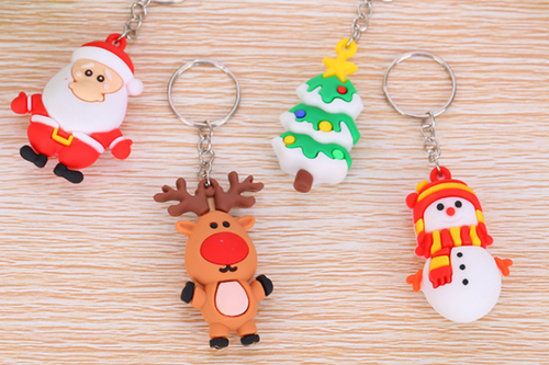Christmas Design Key Ring Seasonal One Dollar Only