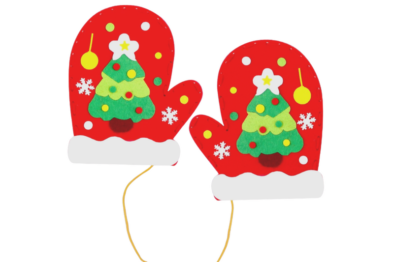 DIY Christmas Mittens Seasonal One Dollar Only