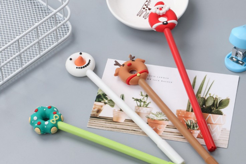 Christmas Theme Donut Pen Seasonal One Dollar Only
