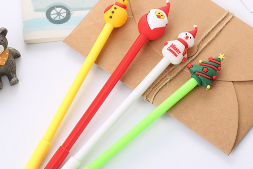 Christmas Theme Gel Pen Seasonal One Dollar Only