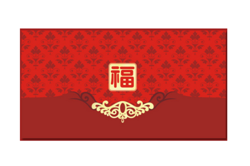 Chinese New Year Premium Horizontal Red Packets (30pcs) Seasonal One Dollar Only
