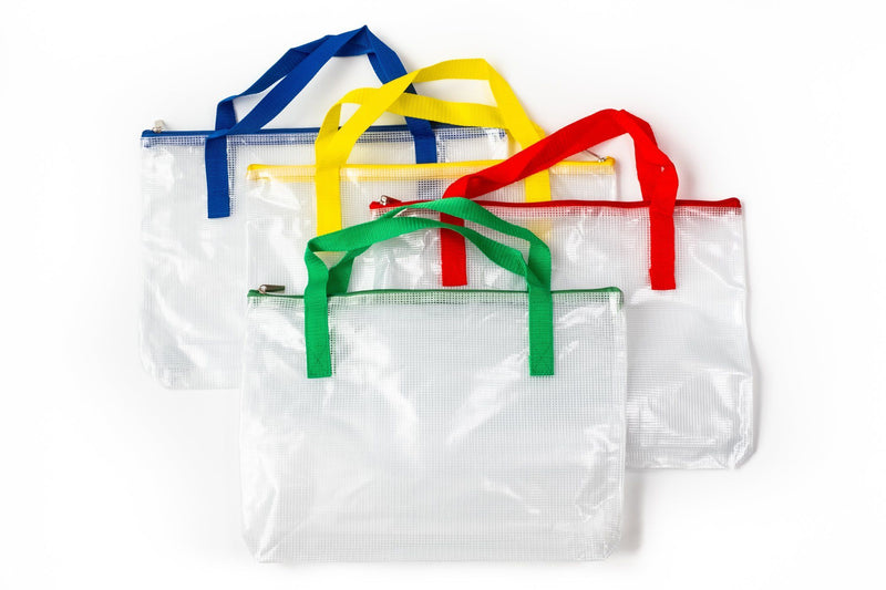 B4 Thick Mesh Zipper Bag with Handle Cases One Dollar Only