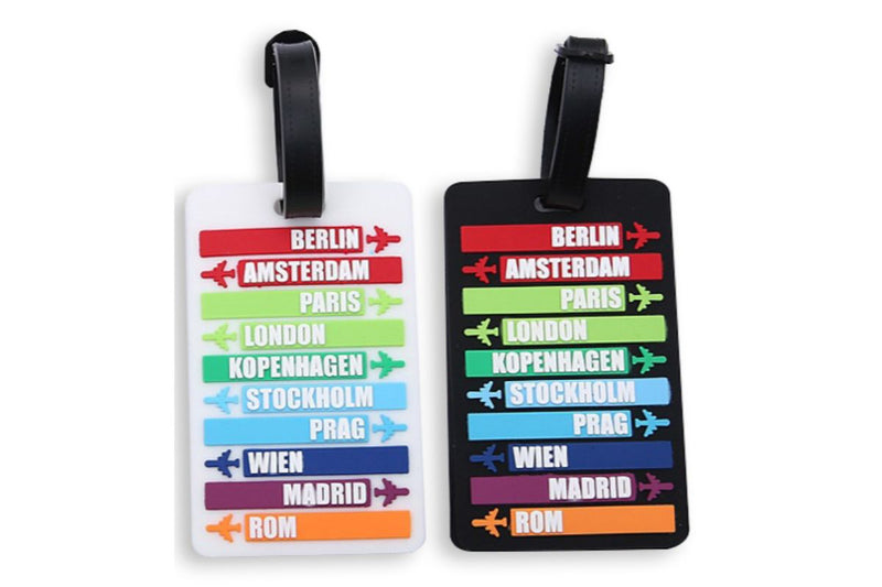 Travel Destination Places Theme Luggage Tag Key Chains One Dollar Only