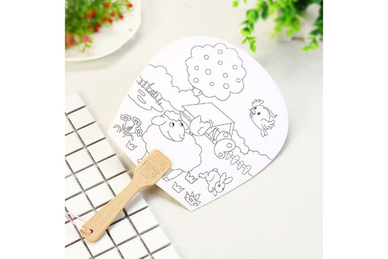 DIY Colouring Fan Art Craft & D.I.Y One Dollar Only