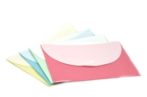 Pastel Button Folder (Pack of 12pcs Assorted)-NEW!!! Just In!!-One Dollar Only