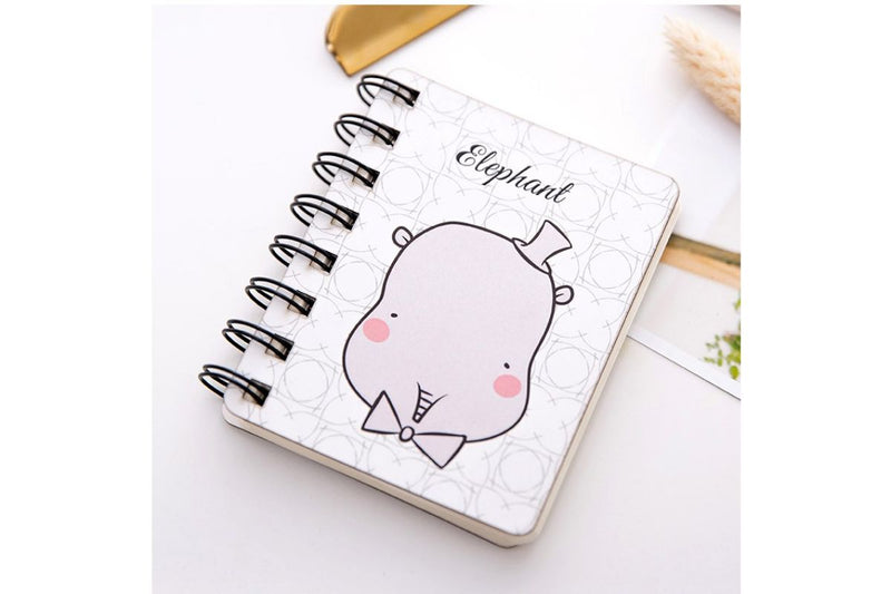 Cartoon Animal Mini Coil Notebook Notebooks One Dollar Only