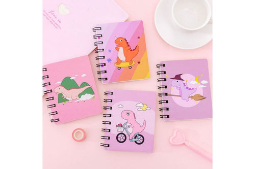 Cartoon Dinosaur A7 Spring Notebook Notebooks One Dollar Only