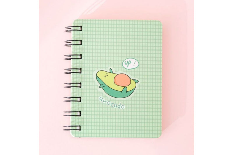Whimsical Avocado Theme Spiral Notebook Notebooks One Dollar Only
