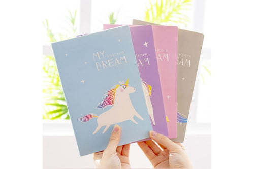 Cute Unicorn Theme Notebook Notebooks One Dollar Only