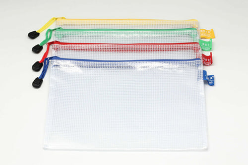 A5 Netting Case White with Coloured Zip Trim Cases One Dollar Only