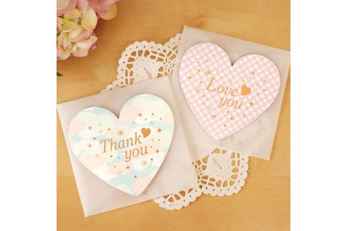 Heart Shaped Greeting Card Stationery Set One Dollar Only