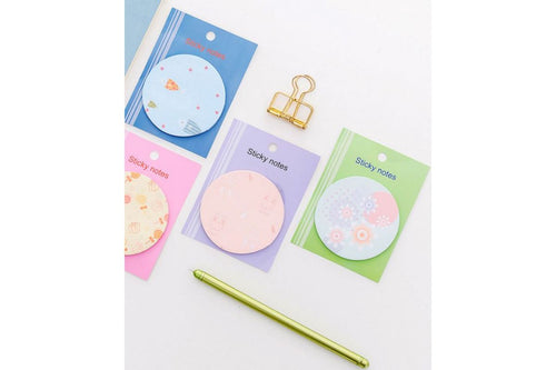 Whimsical Theme Circle Post It Notes Post-it One Dollar Only