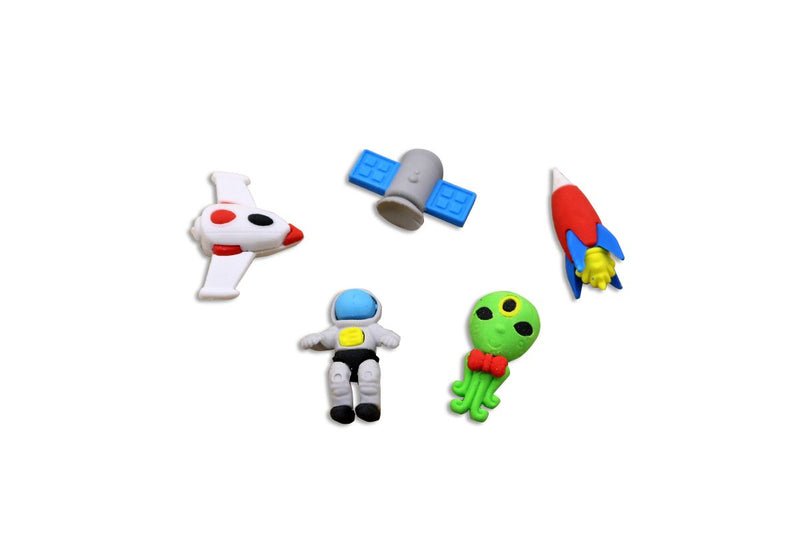 Astronaut Space Themed 4 Piece Eraser Set Erasers One Dollar Only
