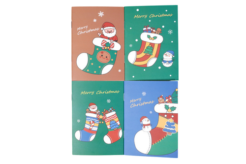Christmas Santa Claus Theme Notebook Seasonal One Dollar Only
