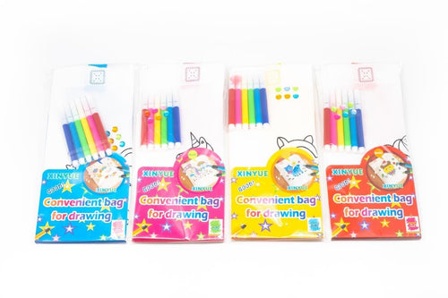 DIY Colouring Non Woven Bag Set - Cartoon Design BAGS One Dollar Only