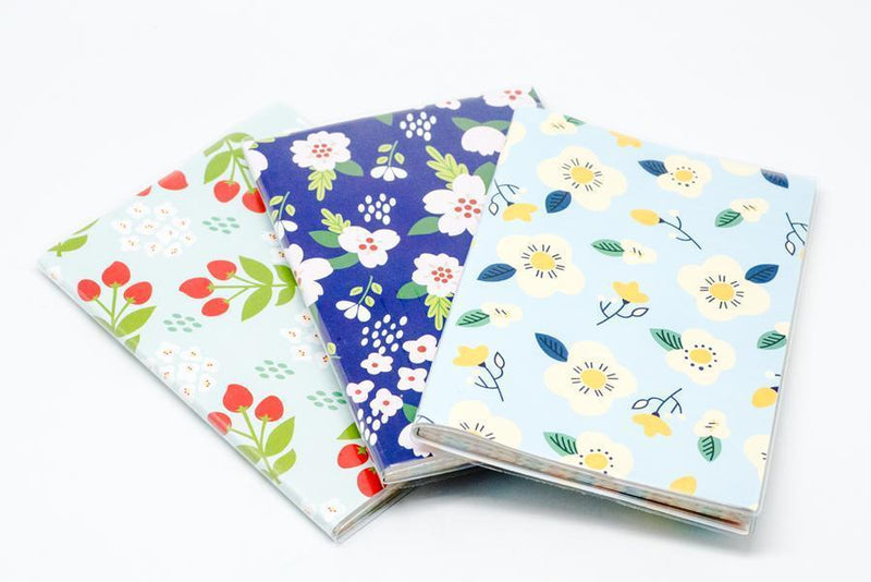 Floral Motif Notebook Planner NOTEBOOKS One Dollar Only