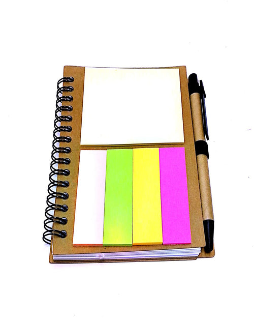 Recycled Notebook with Sticky Pad and Pen Notebooks One Dollar Only