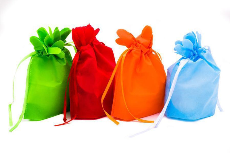 Mini Drawstring Non Woven Gift / Goodie Bag Bags One Dollar Only