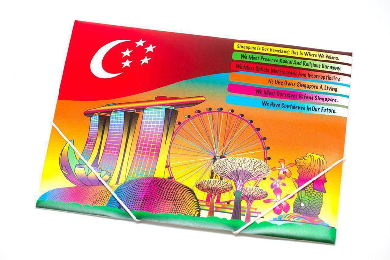 Elastic Band Folder with Singapore Design Files and Folders One Dollar Only
