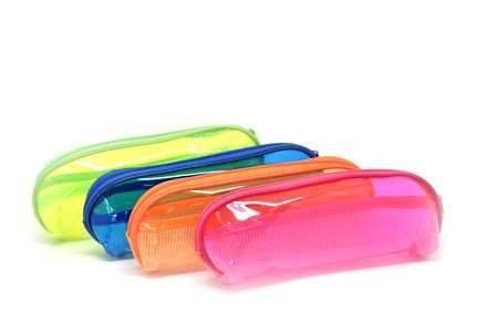 Neon PVC Pencil Case Rectangular (Assorted) Cases One Dollar Only