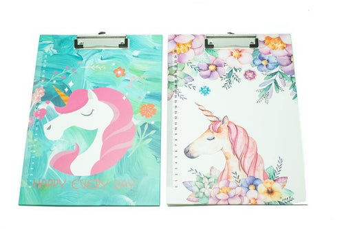 Unicorn Floral Design Clipboard, - 250619 - One Dollar Only