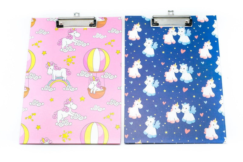 Unicorn Motif Design Clipboard FILES FOLDERS One Dollar Only