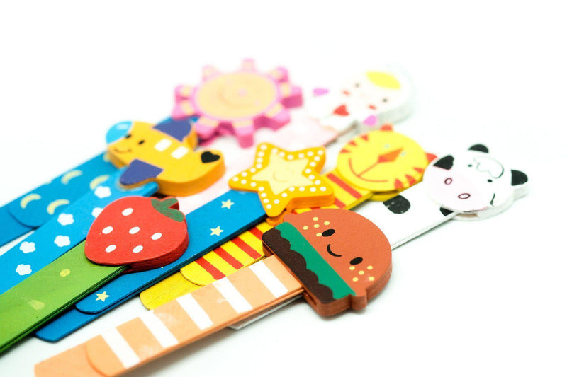 Wooden Slim Bookmark (2pc), - Novelty/Children's Items,Bookmarks,Wooden Products - One Dollar Only