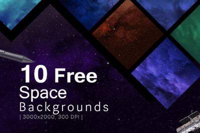 10 Free Space Backgrounds - Pixel Surplus