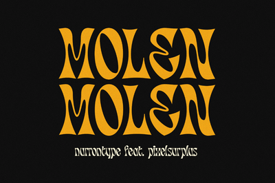 Molen - Free Display Font - Pixel Surplus
