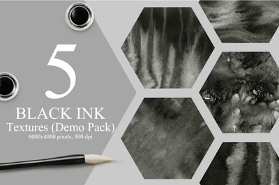 5 Free Black Ink Textures - Pixel Surplus