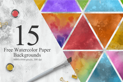 15 Free Watercolor Colorful Textures - Pixel Surplus