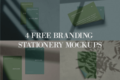 4 Free Branding Stationery Mockups - Pixel Surplus