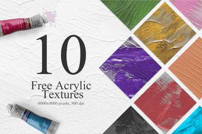 10 Unique Hand Painted Acrylic Textures - Pixel Surplus