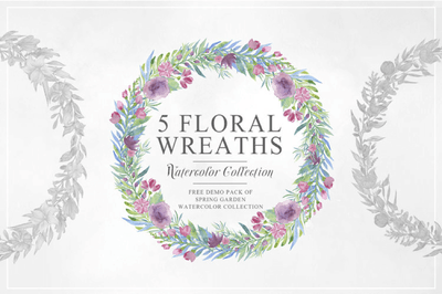 5 Free Beautiful & Unique Floral Wreaths - Pixel Surplus
