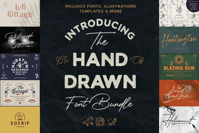 The Hand Drawn Font Bundle - Pixel Surplus