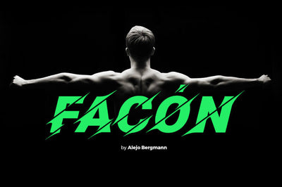 Facon - Free Athletic Display Font - Pixel Surplus