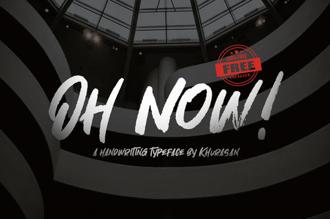 Oh Now! - Free Handwritten Brush Font - Pixel Surplus